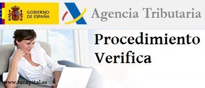 Devolución de la declaración de la renta 2014: VERIFICA.